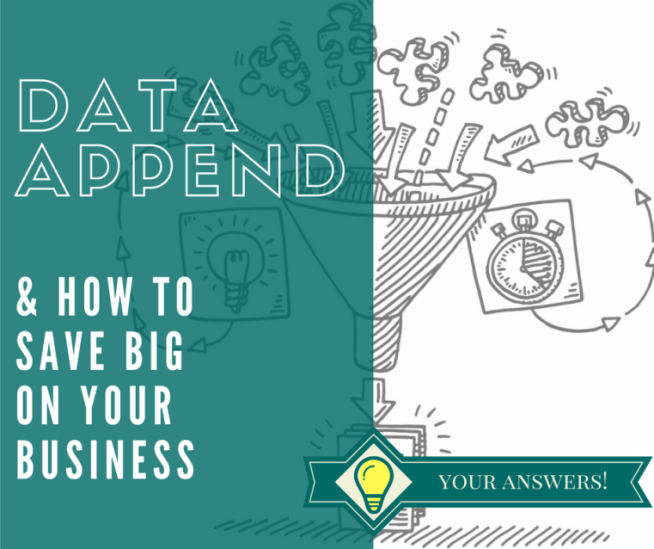 How to Make a Data-driven business out of Data Appending
