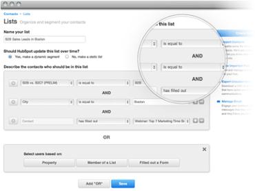 HubSpot List Segmentation Dashboard
